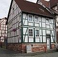 Einfaches traufständiges Fachwerk Wohnhaus des 18. Jh. - Eschwege Ecke Wallgasse-Hospitalstraße - panoramio.jpg