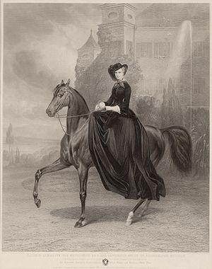 Summerhill, County Meath - Equestrian portrait of Elisabeth at Possenhofen Castle, 1853