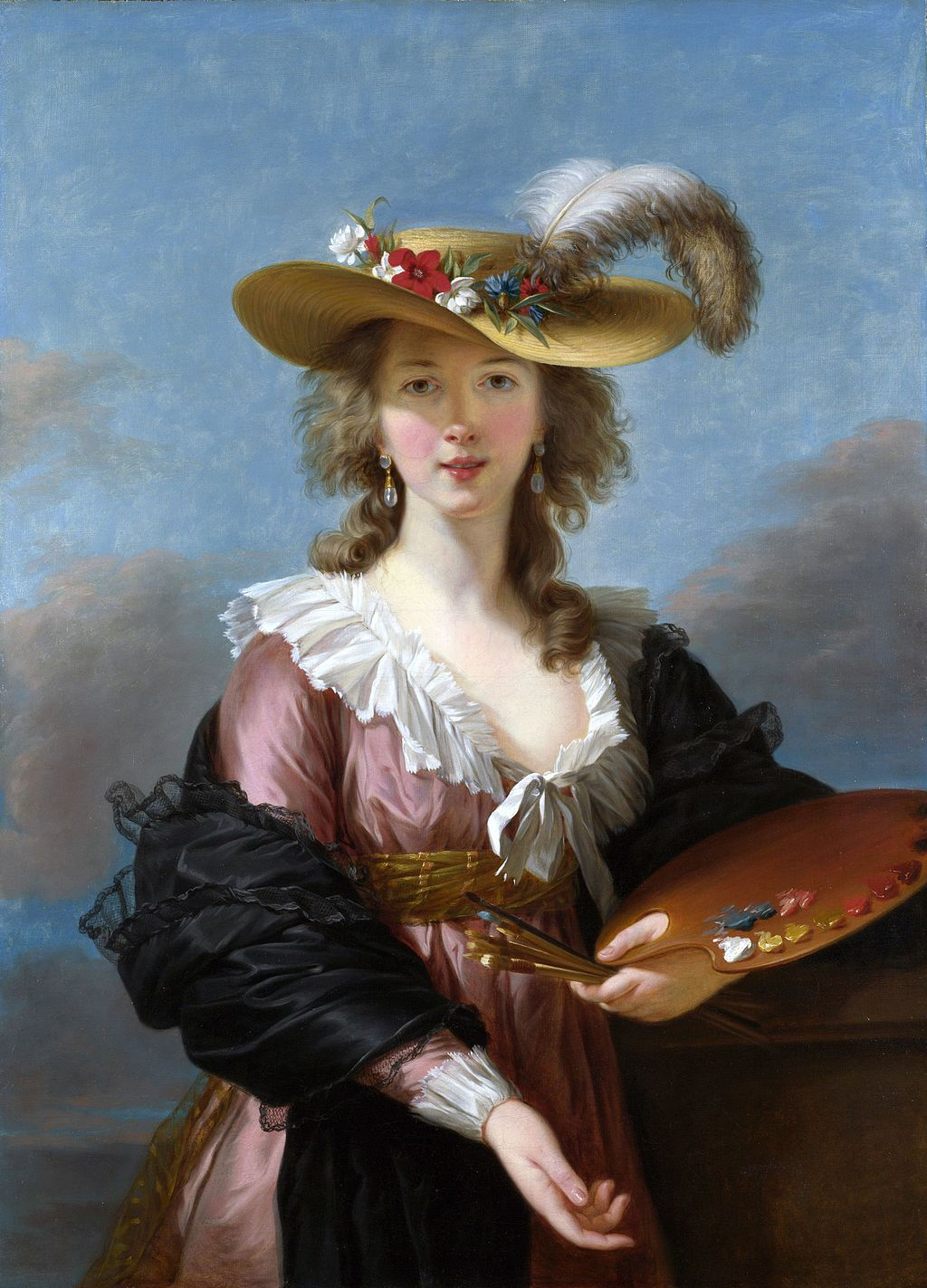 """Self-portrait in a Straw Hat"" by Louise Élisabeth Vigée Le Brun"