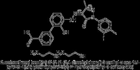 Strukturformel von Eltrombopag olamin