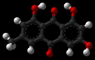 Emodin - Image: Emodin 3D balls