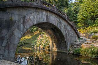 Koishikawa-Kōrakuen - Engetsu-kyō stone bridge