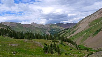 Alpine Loop National Back Country Byway - Image: Engineer pass road, CO