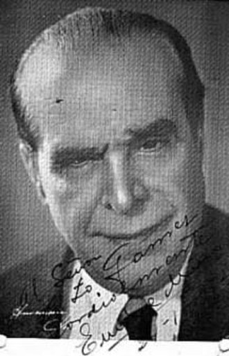 Enrique Muiño - Signed photo of Muiño, c. 1930.