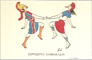 Entente Cordiale series of agreements between the United Kingdom and France about colonies in Africa, Siam (Thailand), Newfoundland, and New Hebrides (Vanuatu)