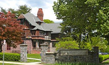 Bryn Mawr College is located in a suburb near ...