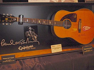 Yesterday (Beatles song) - Replica of the Epiphone Texan acoustic guitar played by McCartney on the song