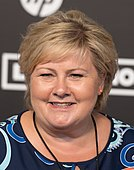 Erna Solberg (Red carpet) - Global Citizen Festival Hamburg 04.jpg