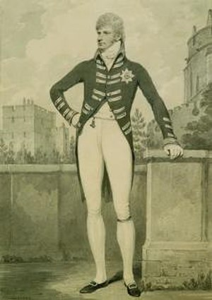 Ernest Augustus, King of Hanover - 1802 drawing of Ernest, Duke of Cumberland, by Henry Edridge, who has omitted Ernest's disfiguring scar.