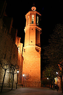 Bell tower of the Santa Eulàlia church.