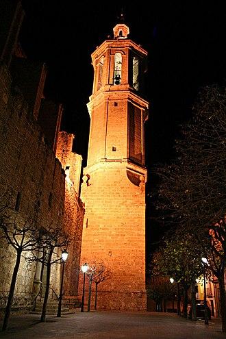 Esparreguera - Bell tower of the Santa Eulàlia church.
