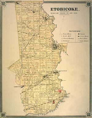 Etobicoke - Etobicoke township in 1878
