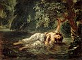 Eugène Delacroix - La mort d'Ophélie, 1853 (Louvre).jpg