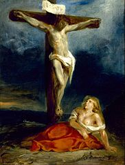 Saint Mary Magdalene at the Foot of the Cross