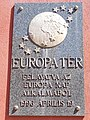 Europa Square memorial plaque, 2020 Zalaegerszeg.jpg