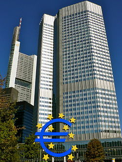 Headquarters European Central Bank in Frankfurt, Germany