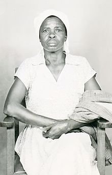 Evangeline Olukhanya Ohana Analo-Oriedo, wife of Esau Khamati Oriedo, 1952 at Nairobi, Kenya Colony. Photograph taken while she was in Nairobi lobbying for her husband, Esau Oriedo, and other anti-colonial activist to be released from detention by the British colonial government.
