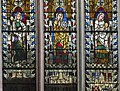 Exeter Cathedral east window detail, St Margaret, St Katherine and Mary Magdalene (36128008833).jpg