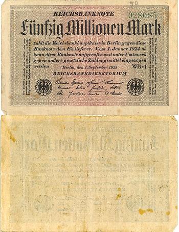Deutsch: Inflationsgeld von 1923
