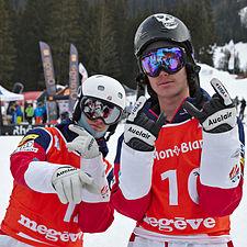 FIS Moguls World Cup 2015 Finals - Megève - 20150315 - Thomas Rowley et Dylan Walczyk.jpg