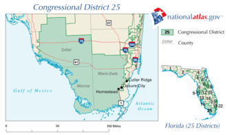 Florida's 25th congressional district - Image: FL25 109