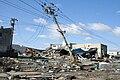 Fallen power poles in Ishinomaki.jpg