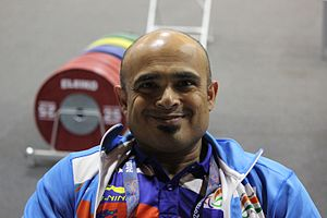 India at the 2016 Summer Paralympics - Farman Basha in Rio.
