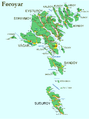 Faroe map with villages, streets, straits, firths, ferry harbours and major moutains.png