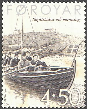 Posta (company) - Conscripted post boat (skjútsbátur).