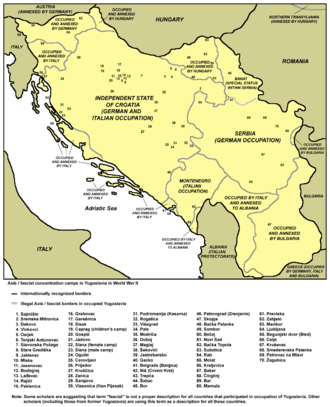 The Holocaust in Serbia - Concentration camps in Yugoslavia in World War II.