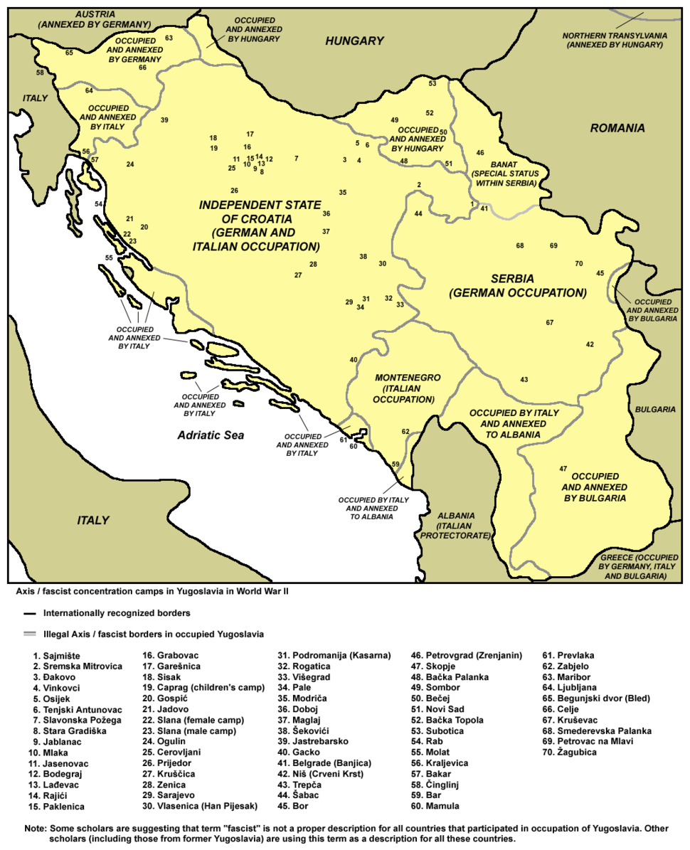 Fascist concentration camps in yugoslavia