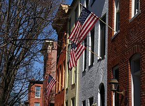 Baltimore - Rowhouses, Federal Hill neighborhood, Baltimore