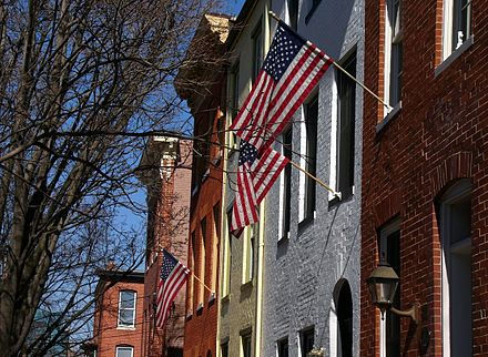 Rowhouses, Federal Hill neighborhood, Baltimore Federal Hill rowhouses.jpg
