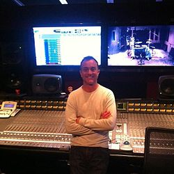 John Feldmann in studio