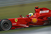 Photo de la Ferrari F2007 de Felipe Massa