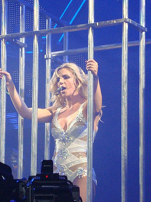 Britney Spears videography - Spears promoting her seventh album in September 2011