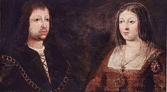 Catholic Monarchs - Marriage portrait of Isabella and Ferdinand, who married in 1469