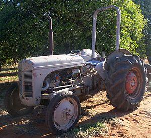Ferguson TE20 - Ferguson tractor at an orange orchard at Palinyewah, New South Wales, Australia