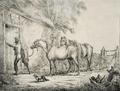 Fernando II de Portugal - Paisagem rural com figura e cavalos, 1839.png