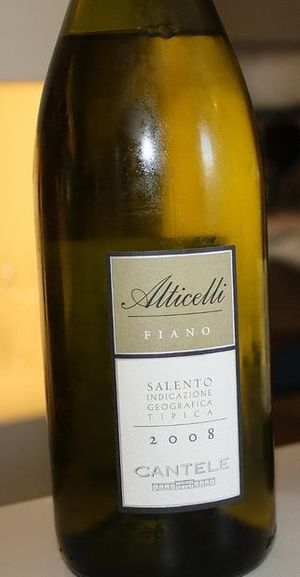 Fiano (grape) - A Fiano IGT wine from the Salento peninsula of Apulia.