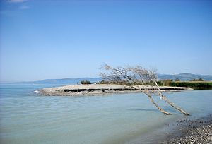 Sinni (river) - Mouth of the Sinni river near Policoro, Basilicata