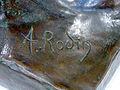 Firma de Rodin en un bronce del Museo Soumaya.JPG