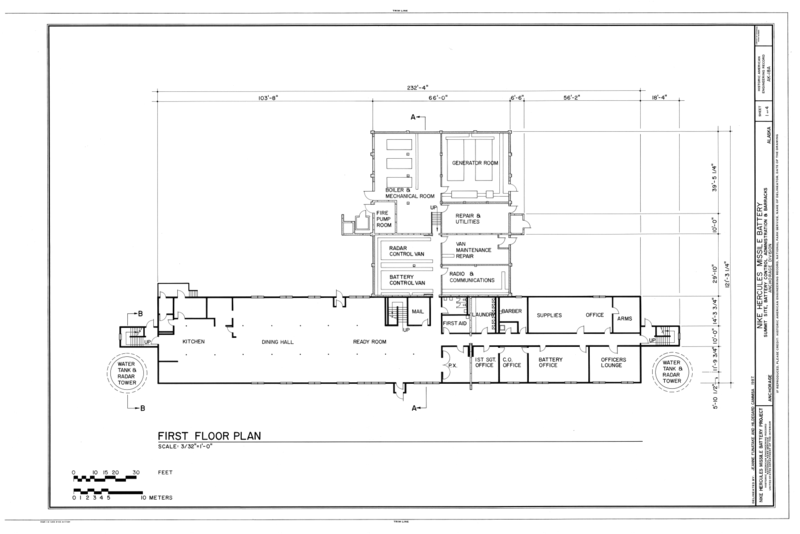 File first floor plan nike hercules missile battery for Alaska floor plans