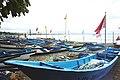 Fishing boats in Pangandaran, West Java, Indonesia.jpg