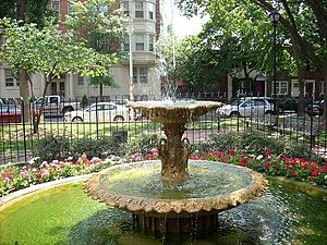 Fitler Square, Philadelphia -  The fountain in the center of Filter Square