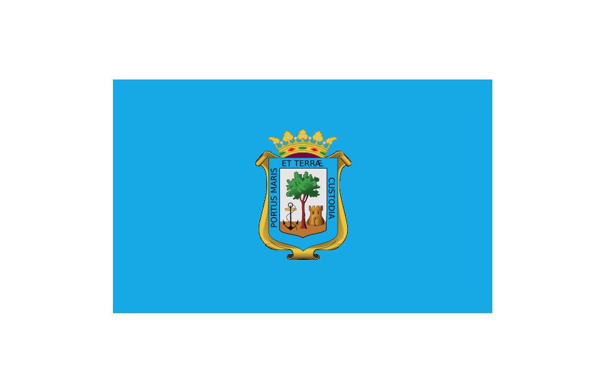 Flag of the City of Huelva (official)