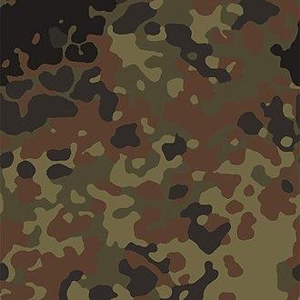 Flecktarn - Flecktarn camouflage woodland fabric swatch
