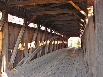 Fleisher Covered Bridge - Interior