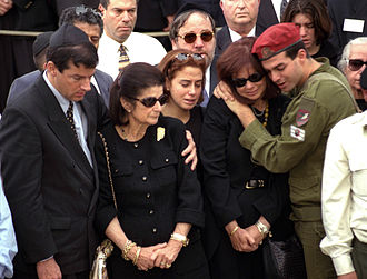 Assassination of Yitzhak Rabin - Yitzhak Rabin's family mourn at his funeral.