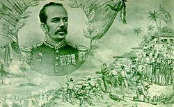 Floriano Peixoto retratado na Revista D. Quixote, em 1895